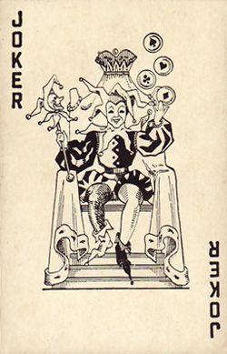 Duratone Joker Playing Card