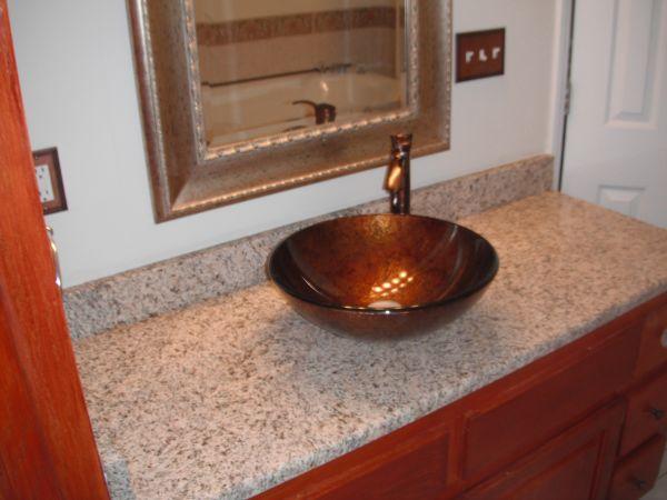 Granite Bathroom Vanity With Vessel Sink