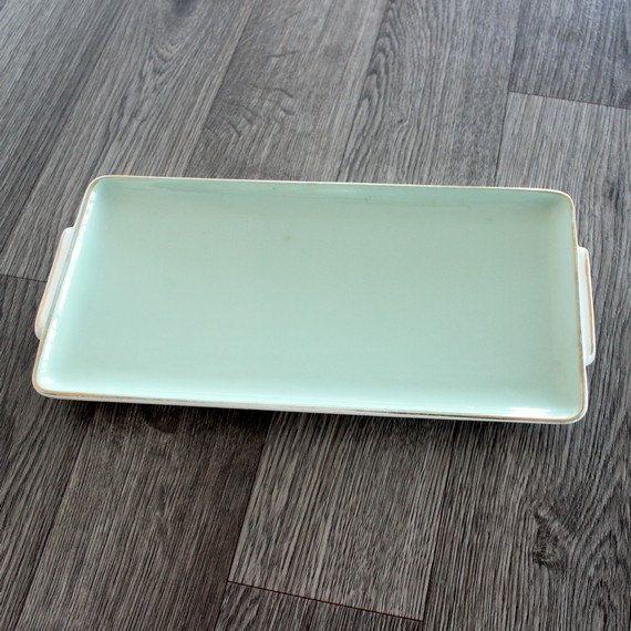 Vintage Villeroy Boch sandwich serving tray 50's Modern Platter Mint green // Villeroy  Boch // B79