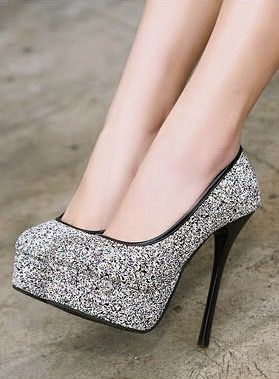 1000  ideas about Silver High Heel Shoes on Pinterest | Silver