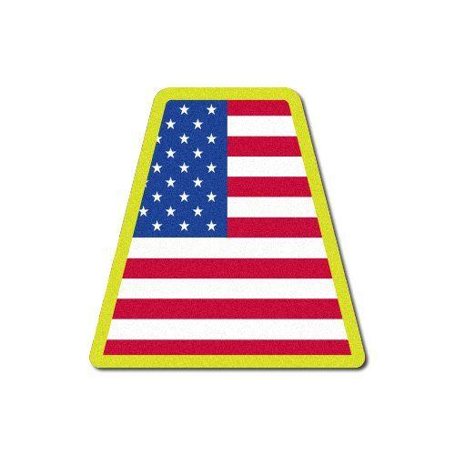 Firefighter Helmet Tetrahedron Fire Helmet Stickers - USA...