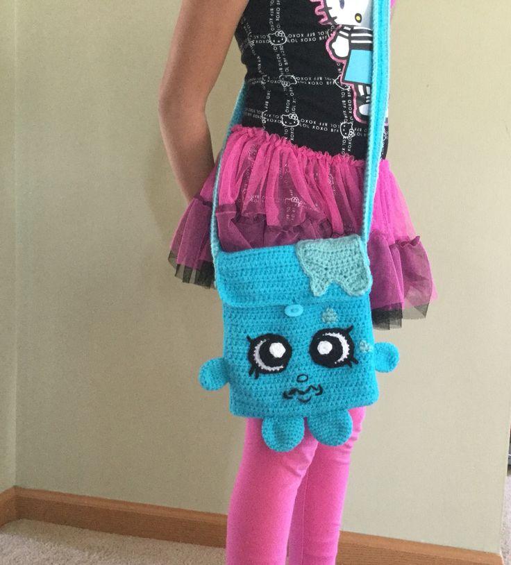 Shopkins inspired crochet cool cube purse