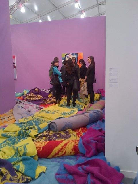 Frieze Fair: Bjarne Melgaard,Theresa starting to know she will die, 2013 (full room) at Gavin Brown