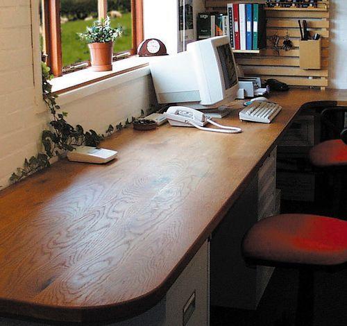 office worktop. wide plank character oak worktops placed on top of filing cabinets to create desktop home office pinterest and desks worktop b