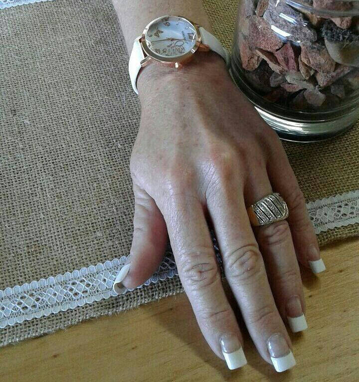 Late birthday gift from hubby Rose gold watch