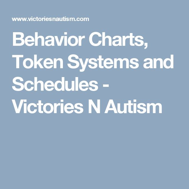 Behavior Charts, Token Systems and Schedules - Victories N Autism