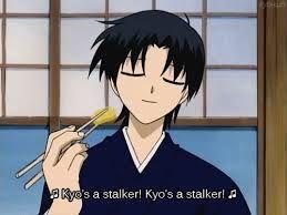 kyo's a stalker.... oh k den shigure-nii-san fruits basket funny