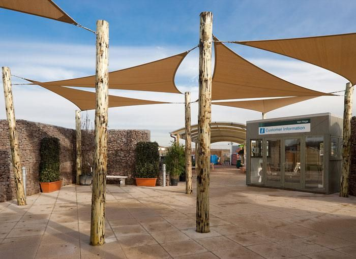Van Hage Retail Wooden Post Shade Sails Provide Shade And