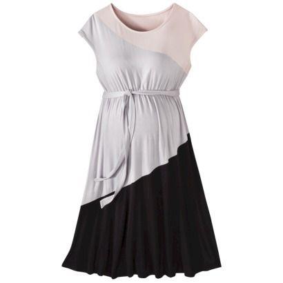 Liz Lange for Target Maternity Short-Sleeve Colorblock Dress