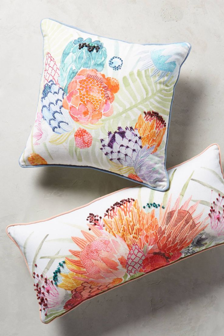 Majorcan Garden Pillow - anthropologie.com