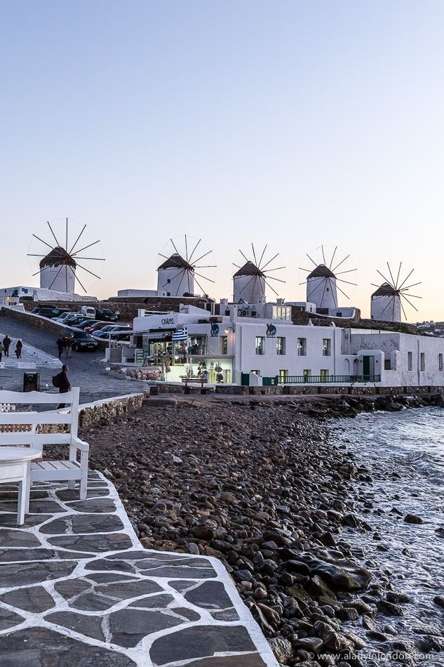 The famous row of 16th century windmills in Mykonos, Greece  #mykonos #greece #windmill
