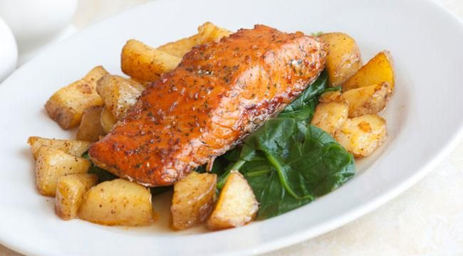 Help build muscle and satisfy hunger longer with this seared salmon and potato hash recipe