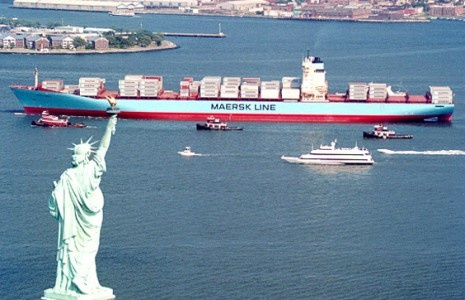 Mr. A.P.Møller and Maersk Line in NY harbor.