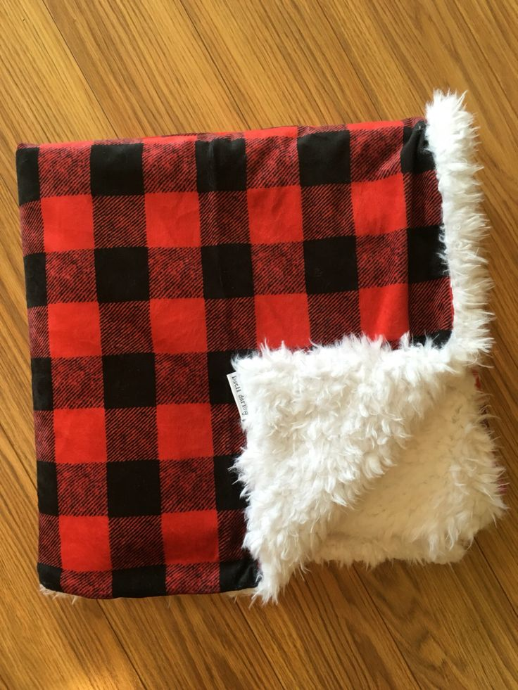 buffalo check minky blanket, gender neutral nursery, woodland nursery, blanket, baby bedding, buffalo check, flannel, red black white plaid by DwellDarling on Etsy https://www.etsy.com/listing/466471153/buffalo-check-minky-blanket-gender