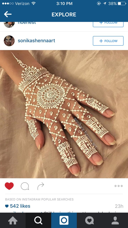 White henna design 5 five white henna designs - White Henna Is Very Pretty