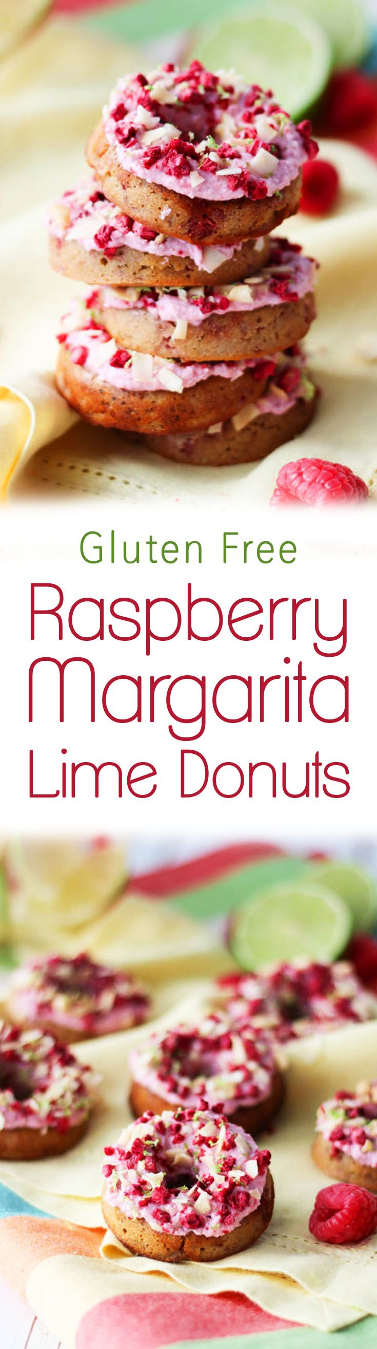These raspberry margarita naturally gluten free donuts are also dairy free and grain free - made with the goodness of almond flour, coconut yogurt…