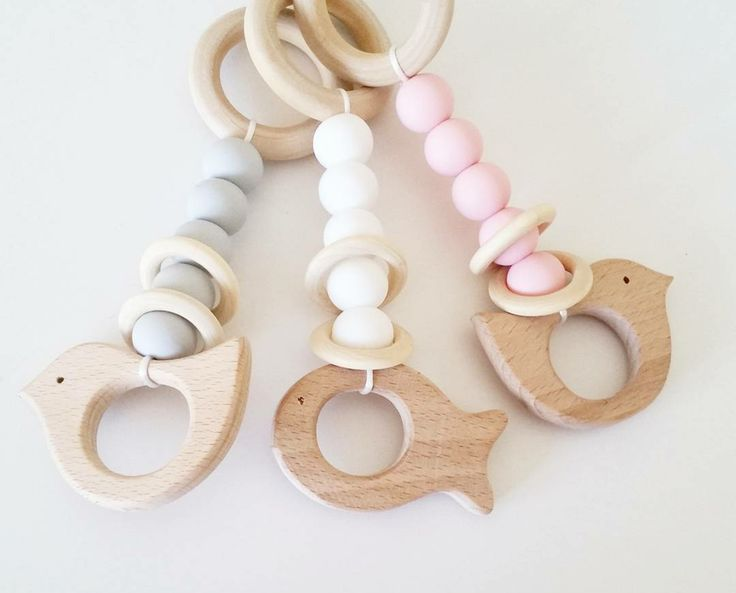 Image of Mini Wooden Teether Rattles
