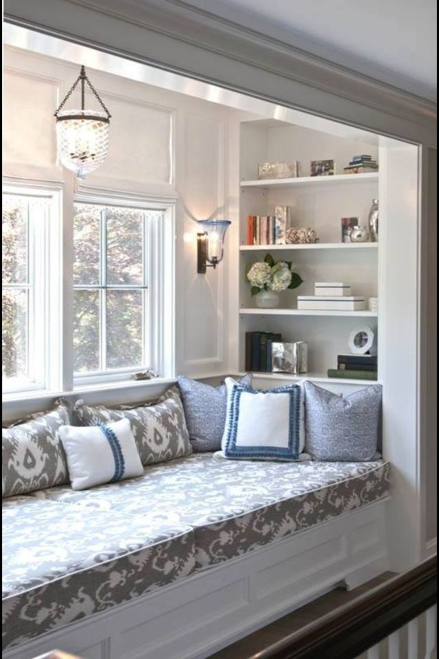 Can easily create this window seat nook in an existing room ir kitchen
