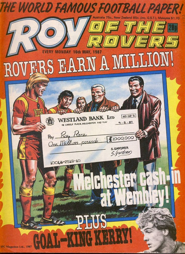 Roy of the Rovers comic 16th May 1987 ref040 Comics