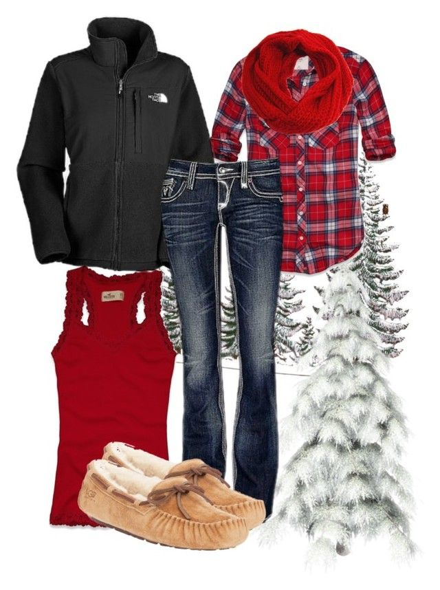 """""""winter wear"""" by nurseratched ❤ liked on Polyvore featuring Buccellati, Abercrombie & Fitch, Hollister Co., Peach Couture, The North Face, Rock Revival, UGG Australia, mountain, winter and uggs"""