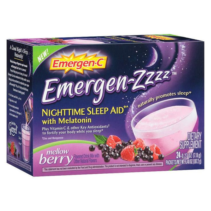 Emergen-C Emergen-zzzz Nighttime Sleep Aid with Melatonin Mellow Berry at Walgreens. Get free shipping at $35 and view promotions and reviews for Emergen-C Emergen-zzzz Nighttime Sleep Aid with Melatonin Mellow Berry