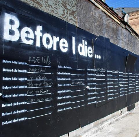 Community art - before i die i want to...