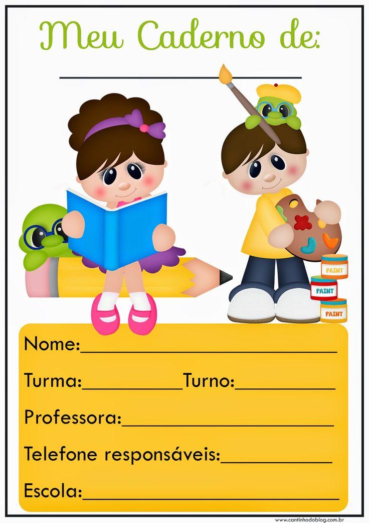 Folha de abertura de caderno - Cantinho do blog