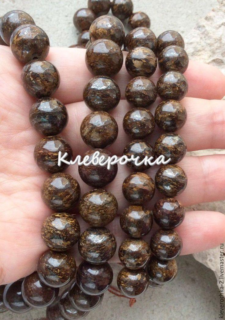 Купить .Бронзит шар гладкий см.описание и фото - бронзит натуральный, бронзит бусины шар