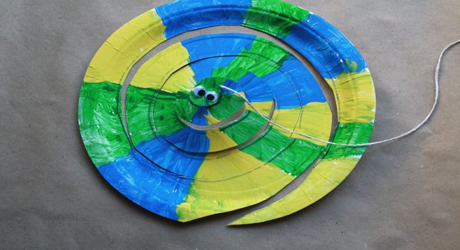 Paper Plate Snakes - http://www.pbs.org/parents/birthday-parties/wild-kratts-birthday-party/activities/paper-plate-snakes/