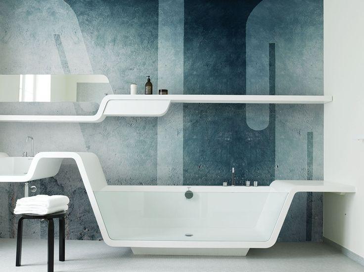 Signages Www Wallanddeco Com Wallpaper Wallcovering Wetsystem Bathroom Wallmodern
