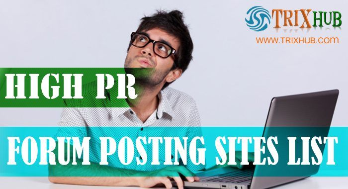 101 High Page Rank DoFollow Forum Posting Sites List (2016 Updated)