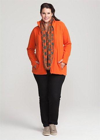 #Virtu Salter Fleece Jacket #plussize #curvy