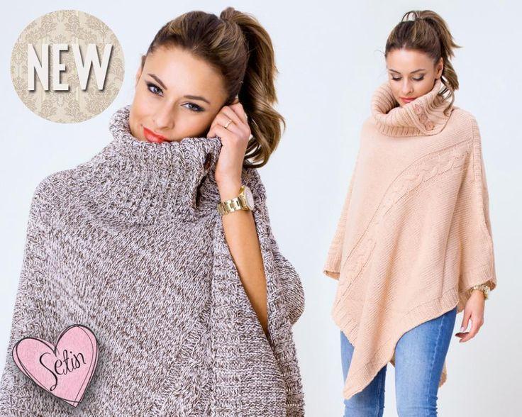 9 Damen Lange Poncho Sweatshirt Pullover Cardigan Sweat StrickJacke Neu Gr S M L in Kleidung & Accessoires, Damenmode, Pullover & Strick | eBay