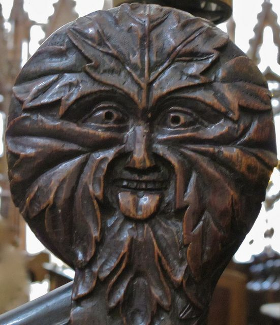 Green Man in Winchester Cathedral