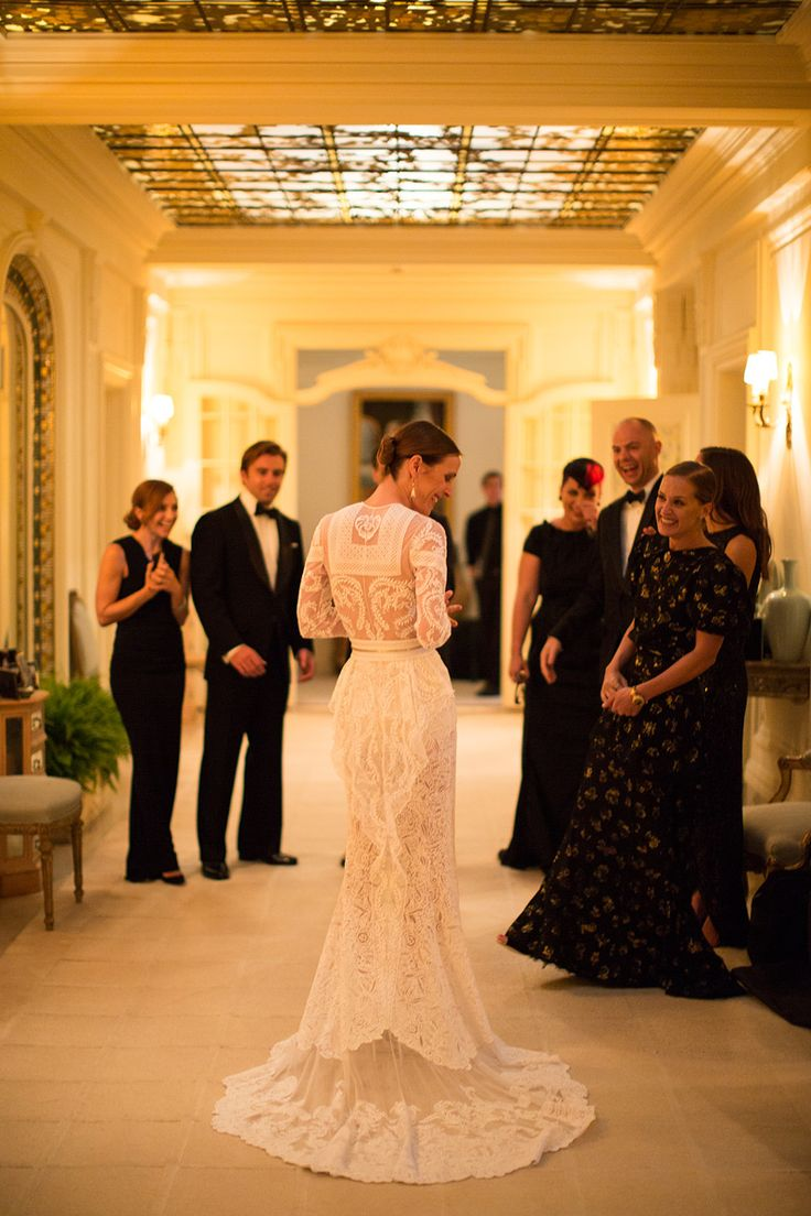 Riccardo Tisci made the bride's dress, which was inspired by the Givenchy Haute Couture archives.    Photo: Samuel Lippke & Allan Zepeda for Samuel Lippke Studios
