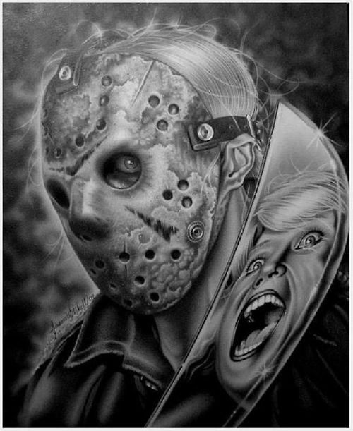 #Fridaythe13th #horrorart