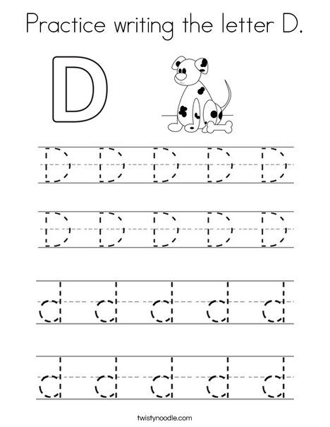 practice writing the letter d coloring page twisty noodle letter coloring pages worksheets. Black Bedroom Furniture Sets. Home Design Ideas