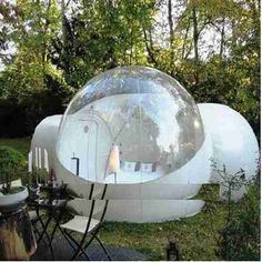 Get ready to have a tranquil night of camping with the inflatable bubble tent. It has a bedroom with two tunnels so you are never short of space..