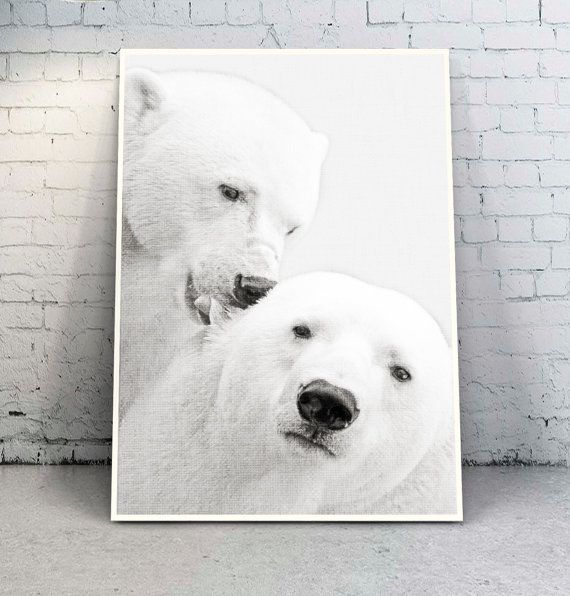 Bear Wall Art PrintBlack and White от YourPrintsShop на Etsy