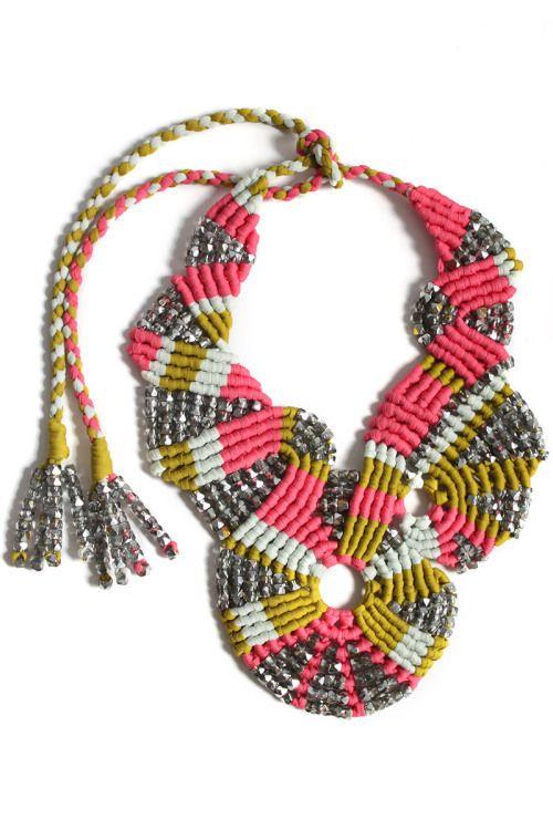 palm beach disc necklace by Tammy Tiranasar  via Keep Feeling Fascination.