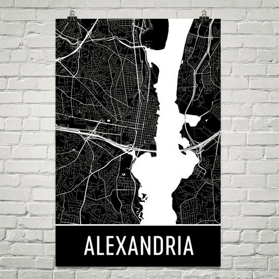 Best 25 alexandria map ideas on pinterest library of alexandria alexandria map art print alexandria va art poster alexandria wall art map of malvernweather Image collections