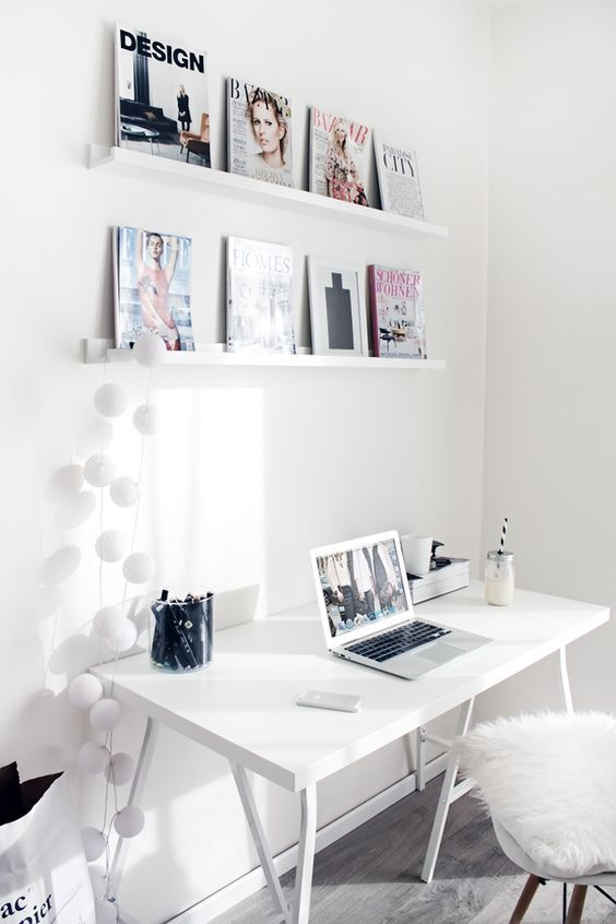 Ikea White Workspace Office Interiors Home Ideas