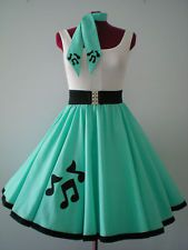 Music Note Poodle Skirt