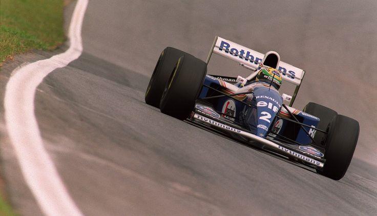 Ayrton Senna in the Williams FW16 at Interlagos '94