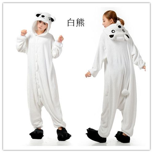 pas cher hommes cartoon mesdames blanc ours adultes onesies animaux onsie kigurumi pyjamas. Black Bedroom Furniture Sets. Home Design Ideas