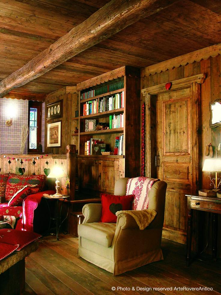    Arte Rovere Antico - Photo by Duilio Beltramone for Sgsm.it    Casa Guglia Rossa - Bardonecchia - Italy - Wood Interior Design - Mountain Design
