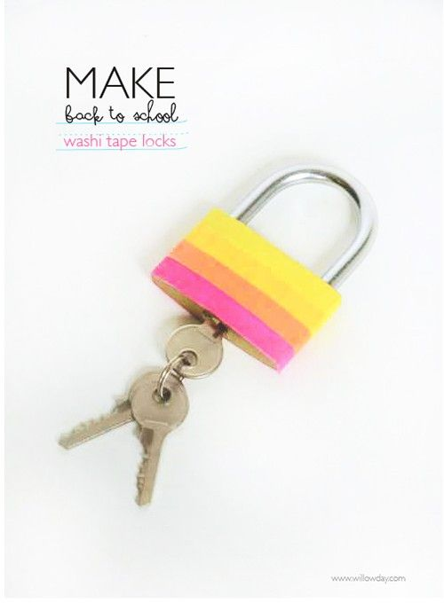 neat idea...add a little washi to your school locker lock...