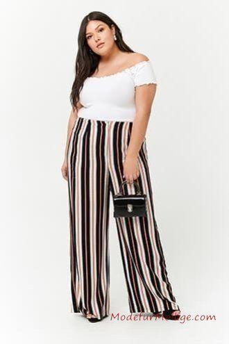 Weiße Bluse Palazzo Hose – Mode inGroße Größen Styling Tipps für Mollige Frauen   Mode für Mollige Frauen – #GroßenGrößen #modefürmollige #damenmode #outfit