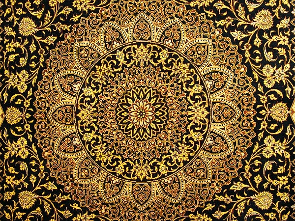pure silk persian rugs from quom iran. a stunning fine silk weave carpet.