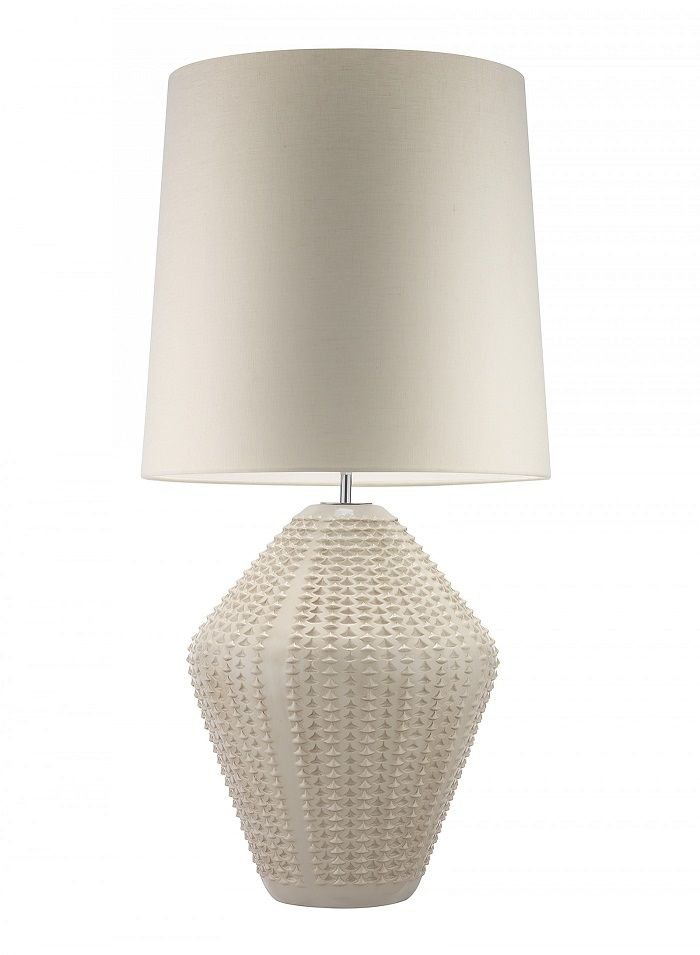 "Hotel Lighting Collection: 36"" Tall Contemporary Ceramic Art Table Lamp * Antique Ivory * 100 Custom Color Shade Options"